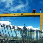 Harland and Wolff Shipyard - Samson and Goliath gantry cranes County Down Belfast